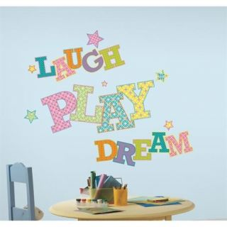 New Giant Laugh Play Dream Wall Decals Kids Bedroom or Toy Room Stickers Decor