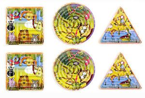 6 Jungle Maze Puzzles Games Pinata Toy Loot Party Bag Fillers Wedding Kids