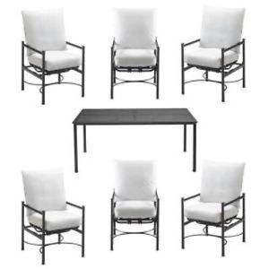 Hampton Bay FSS61119MST Bare 6 Chairs Only with Bare Cushions