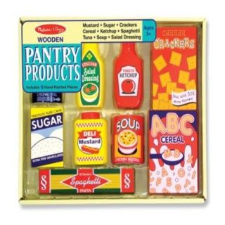 Melissa Doug Wooden Pantry Products Kids Play Children Pretend Game Kitchen