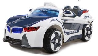 Kids Ride on Electric Car BMW i8 White Remote Control Battery Operated