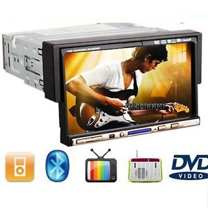 "Automotive Media Radio iPod BT Phone Car Stereo DVD Player 7"" Touch Screen 1Din"