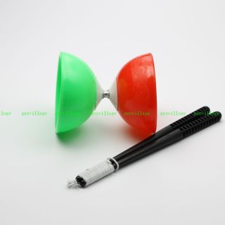 Red Green Bowl White Diabolo Chinese Yo Yo Toy Keep Fit