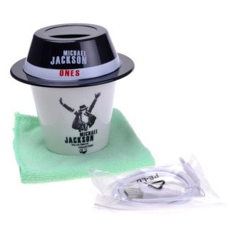 Michael Jackson Design Cup w Hat Cap Shape Mini USB Air Humidifier Moist Filter