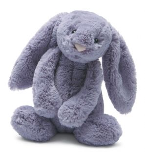 Jellycat Bashful Plum Purple Bunny Medium Stuffed Animal Plush Toy