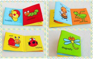 Infants Baby Kid's Children's Discovery Cloth Books Rattle Crinkle Squeaky Toys