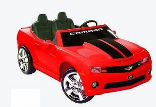 Kids Battery Powered Ride on Toy 2 Seats Seater Camaro Sports Car Chevy 12V