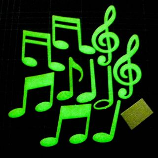 1 Set Music Notation Symbol Glow in The Dark Bedroom Decoration Night Toy A0629
