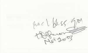 Desmond Tutu Signed Autographed Auto 5 x 3 Index Card IDC Anglican Bishop Nobel