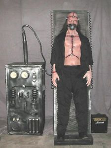 Bolt Life Electric Chair Size Animated Haunted House Halloween Prop See Video