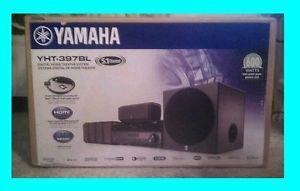 Yamaha YHT 397 ★ 5 1 Channel Home Theater Speaker System in A Box YHT 397BL New