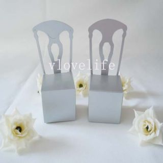 100pcs New Silver Chair Wedding Party Gift Boxes Favor