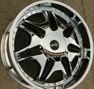 Metal FX FX204 22 x 8 5 Chrome Rims Wheels Chevrolet Malibu 97 03 5H 40