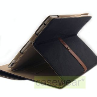 Black Brown Flip Leather Folio Cover Binder Case for New iPad 3 Accessory