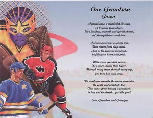 Hockey Personalized Poem for Grandson 2 Poems to Choose From