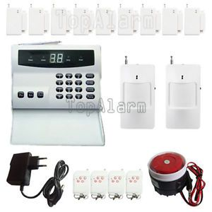 LED Wireless Security System Motion Phone Auto Dialer Home Burglar Alarm Kit