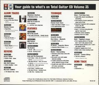 Total Guitar Vol 35 Beatles Oasis Testament Promo CD