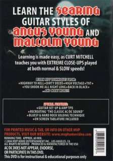 How to Play Rock Guitar Like in The Style of AC DC ACDC Learn Licks Riffs DVD 085855090727
