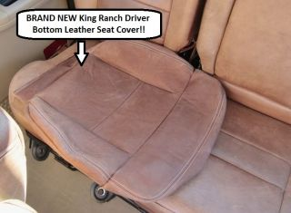 04 05 06 07 08 Ford F150 Supercrew Crew King Ranch Leather Steering Wheel Cover