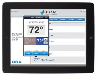Trane Home Energy Nexia Intelligence Automation Air Condition Heat Thermostat