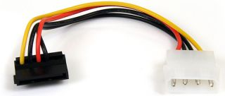 Startech Satapowadapr 6in 4 Pin Molex to Right Angle SATA Power Cable Adapter
