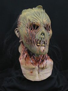 Zombie Scarecrow Halloween Horror Haunt Latex Mask Prop New