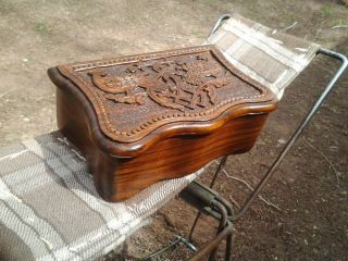 Armenian Hand Carved Wooden Jewelry Box Jewel Case Woodworking Art Handmade