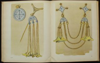 Book Ancient Lithuanian Jewelry Metal Folk Art FIBULA Gold Glass Necklace Goth