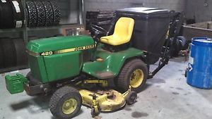 John Deere 420 Garden Tractor Lawn Collection