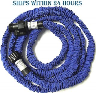 Expandable Flexible Compact 25 ft Garden Lawn Water Hose No Kinks Pocket Size
