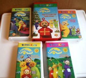 """Teletubbies"" PBS Kids 6 Childrens Learning Fun Videos VHS"