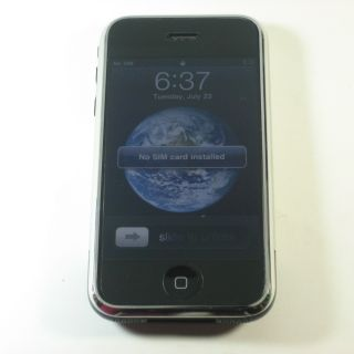 Apple iPhone 1st Generation 4GB Wi Fi Touch Unlocked GSM Phone at T B Stock