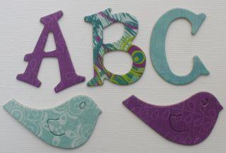 Bo Bunny Peacock Lane Chipboard Alphabet Letters