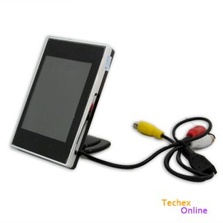 "3 5"" TFT LCD Car Rear View VCR DVD CCTV Reversing Camera Monitor"