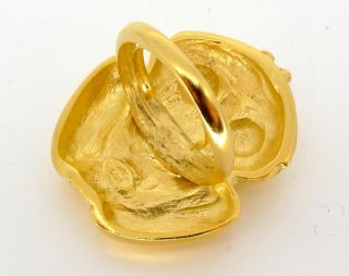 Kenneth Jay Lane KJL Satin Gold Frog Ring