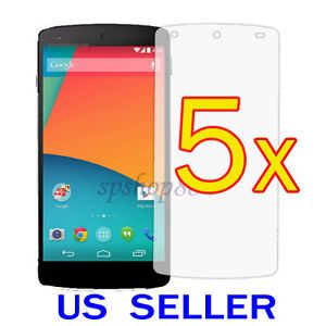 5X LG Google Nexus 5 Clear LCD Screen Protector Guard Cover Film