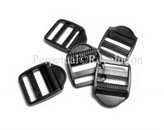 "100 Ladder Locks Tension Locks 1"" 25mm Black Buckles Adjusters Slides"