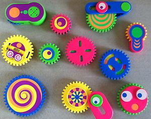 Tomy Gearation Lot of 11 Magnetic Gears Only Fridge Refrigerator Magnets Toys