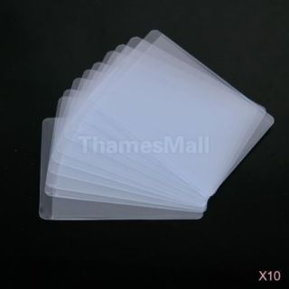 10pcs Soft Plastic Clear Credit Card Sleeves Protectors Dustproof Waterproof New