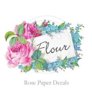 Vintage Shabby Chic Pink Rose Kitchen Labels Decals