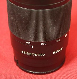 Sony Alpha SAL75300 1 5M 4 9ft Macro DSLR Lens w Caps Tube 276432 1 0027242239838
