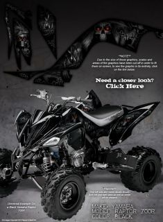 "Yamaha Raptor 700 700R Graphics ""The Call of Death"" Blk"