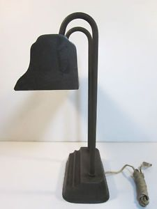 Vintage Fluorescent Desk Lamp Swivel Table Light Metal Industrial Drafting Light