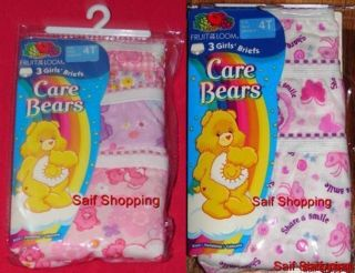 Girls Care Bears Panties Briefs 4T x 6 Cute Pairs