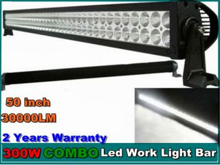 50inch 300W LED Light Bar Combo Lamp Driving Truck Jeep Motor Boat Warteproof