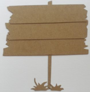 3 Picket Signs Raw Bare Unfinished Chipboard Die Cuts