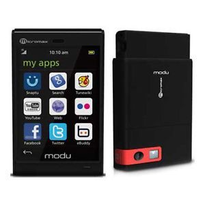 New Modu T 3G 2GB s GSM Smart Mobile Cell Phone Black Unlocked Touchscreen