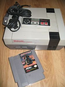 Original Nintendo NES System Console Plus Airwolf Game