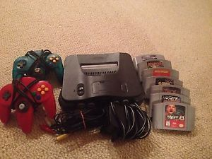Nintendo 64 Console Games Controllers Lot