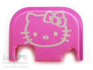 Rock Your Glock Pink Hello Kitty Custom Slide Cover Plate Gun Pistol Handgun